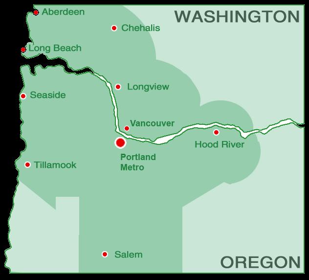 Service Area | Hometown Exterior Designs - Portland, OR & Vancouver, WA