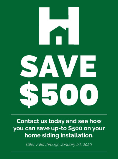 Save $500 off home siding installation - Hometown Exterior Designs promotion